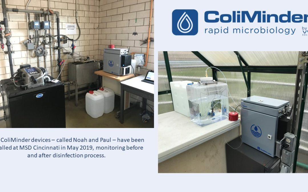 New installation of 2 ColiMinders at MSD Cincinnati