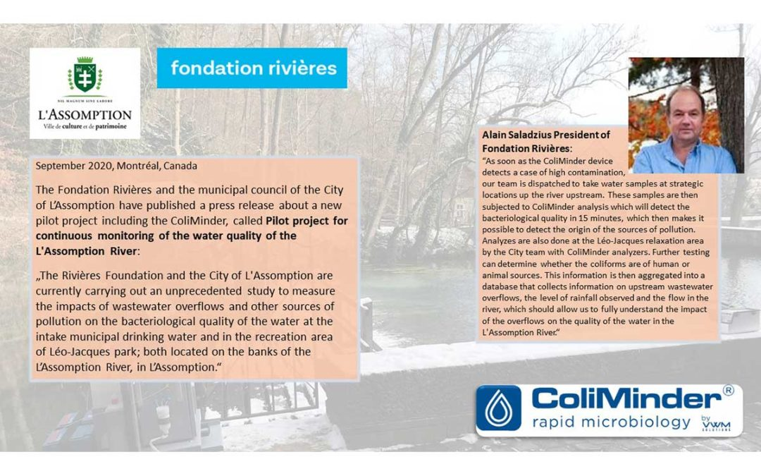 ColiMinder monitoring river quality