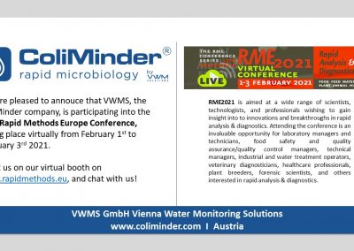 ColiMinder at virtual Rapid Methods Europe Conference